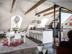 Attic apartment | photos by Janne Olander Follow Gravity Home:...