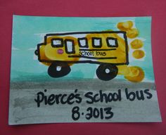 Footprint art school bus (back to school!)