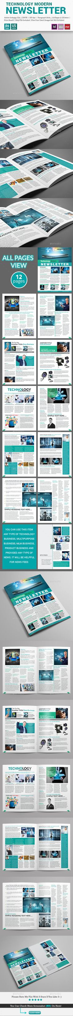 4-Pages Newsletter Template | Newsletter templates