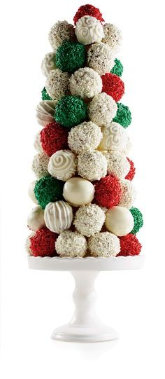 Donut Hole Christmas Tree #Recipe #HolidayEntertaining