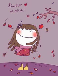 Miss Pink: Lindo otoño. Art Drawings For Kids, Drawing For Kids, Art For Kids, Boy Illustration, Character Illustration, Forest Fairy, Hello Autumn, Graphic, Cute Wallpapers