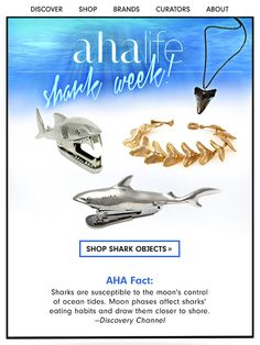 "A ""Fin-tastic"" Double Feature by @AHAlife for Shark Week #CelebrateCreativity"