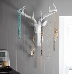 Good Clean Fun: Project Pinterest - Antlers Jewlery Holder