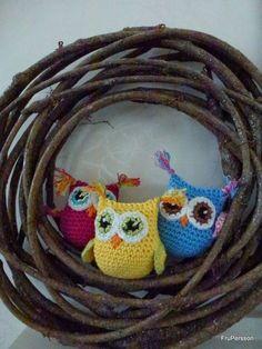 Crochet free owl pattern (swedish)