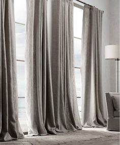 Check out the Belgian Textured Linen Drapery in Curtains & Window Coverings, Fabrics & Linens from Restoration Hardware for Drapes And Blinds, Linen Curtains, Grommet Curtains, Hanging Curtains, Drapery, Cheap Curtains, Black Curtains, Unique Window Treatments, Kitchen Window Treatments