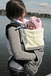 Pouch weather cover - ties to keep attached to stroller, carseat, or baby carrier and a kangaroo pouch for mommy's hands!