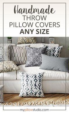 Indoor Pillow Covers - Grey Black Tan Throw Pillow Covers #PillowCovers #Pillows #HomeDecor Couch Pillow Covers, Outdoor Pillow Covers, Pillow Cover Design, Couch Pillows, Handmade Pillow Covers, Decorative Pillow Covers, Designer Pillow, Designer Throw Pillows, Living Room Pillows