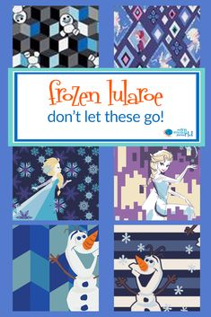 bf0cc477ed7b26 Don't let go of the new Disney Frozen LuLaRoe featuring Elsa and Olaf