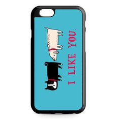 I Like You Dog iPhone 4/4S/5/5S/5C/6/6S/6+/6S+ Heavy Duty Case