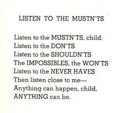 Wisdom from Shel Silvertein