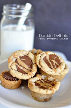 Amazing Double Dribble Peanut Butter Cup Cookies- simple to make but taste unbelieveable!