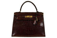 Hermès Brown Crocodile 28cm Kelly Bag - the bag of my dreams!