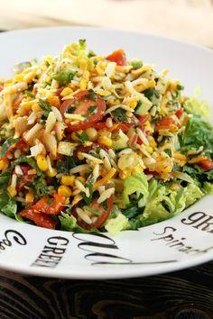 Not Quite a Vegan...?: Chopped Orzo Corn Salad with Lemon Vinaigrette