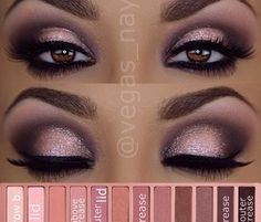 Makeup for brown eyes. I think this default picture is using the Naked 3 palette.