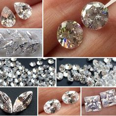 Cz - Cubic Zirconia in all shapes and sizes, we have the entire range ranging from 2mm To 10mm in each shape - Round, Oval, Marquise, Square, Pear. Check the colored options as well. Only on Gemsforjewels - SHOP FLAT 50% Store Wide!!