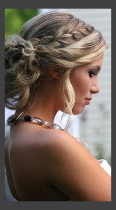 Shelly Wedding Braided Wedding Updo for Medium Length Hair