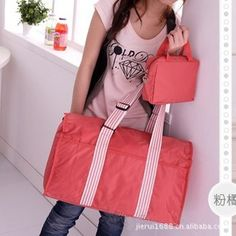 travel bags in pink