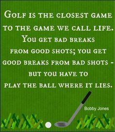 Golf Quote by Bobby Jones