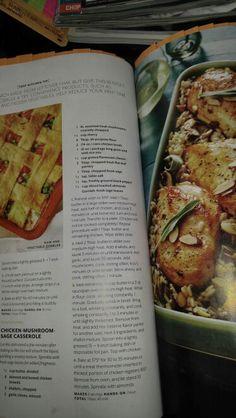 Chicken mushroom sage casserole