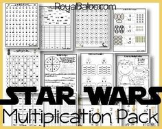 Baloo is back in a Star War phase and has told me he would do extra multiplication work if it was Star Wars themed. Naturally, I jumped on that opportunity! So in this multiplication pack is… Star Wars Classroom, Math Classroom, Teaching Multiplication, Teaching Math, Maths, Multiplication Strategies, Math Fractions, Math For Kids, Fun Math