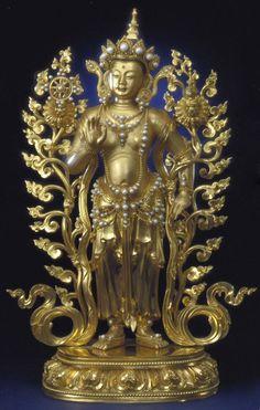 Maitreya Bodhisattva at Forbidden City, Beijing Nepal Art, Tibet Art, Tibetan Buddhism, Buddhist Art, Buddha Life, Maitreya Buddha, Green Tara, Buddha Sculpture, Buddha Painting
