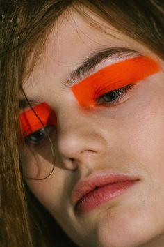 Versus Versace. Neon make up #vogue #makeup #faceart