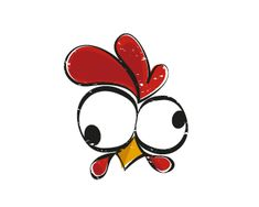 Find tips and tricks, amazing ideas for Logo branding. Chicken Logo, Chicken Art, Cartoon Chicken, Rooster Art, Rooster Logo, Rooster Painting, Chicken Drawing, Rock Painting Designs, Happy Paintings