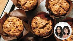 Muffins aux pêches et à l'érable Clean Eating Breakfast, Breakfast Muffins, Croissants, Skinny Muffins, Maple Fudge, Muffin Bread, Mini Foods, Muffin Recipes, Dairy Free Recipes