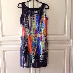 Water Color Dress. Worn One Time.
