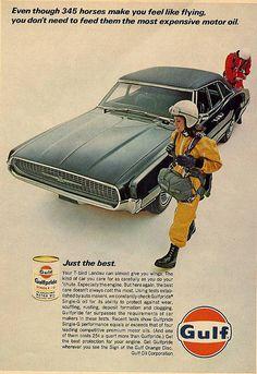 Gulfpride oil ad, 1967 - Thunderbird by mark_potter_2000, via Flickr