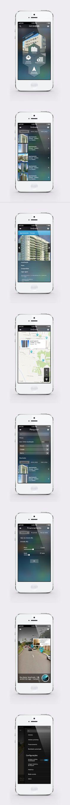 Aplicativo desenvolvido para imobiliárias, com o intuito de localizar imóveis disponíveis para locação e venda próximo ao seu local atual e com função de realidade aumentada. #mobile #appdesign #LucasFontoura