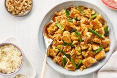 Thai Cashew Chicken Stir-fry with Rice Recipe Rice Recipes, Asian Recipes, New Recipes, Chicken Recipes, Cooking Recipes, Healthy Recipes, Ethnic Recipes, Recipies, Main Meals