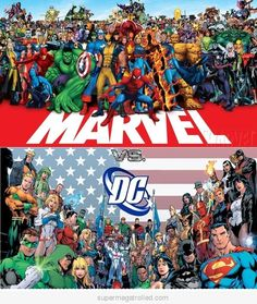 Marvel universe and DC universe. I'll always be a bigger Marvel fan.