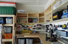 No Plans-diy garage storage with sliding doors - Google Search