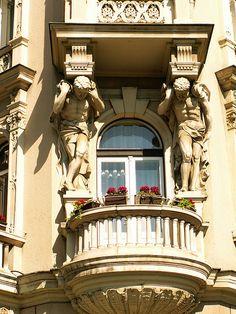 Art-Nouveau balcony in Zagreb, Croatia