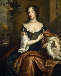 Mary of Modena, 1658 - 1718. Consort of James VII and II    By Willem Wissing, 1687    This glamourous portrait of Mary of Modena was painted following her husband, James VII and II's, accession to the throne in 1685. A devout catholic, Mary had intended to enter a convent. However, in 1673, following the Pope's encouragement that she should marry, she became James's second wife.