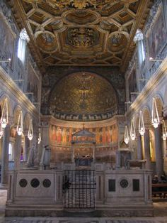 Interior to the High Altar - Basilica of Saint Clement,Rome