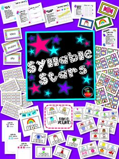 Syllable Stars!  Hands-on activities and lessons for phonics instruction with an emphasis on syllables.