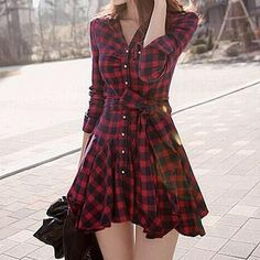 Buy 'Fashion Street – Plaid A-Line Shirtdress' with Free International Shipping at YesStyle.com. Browse and shop for thousands of Asian fashion items from China and more!
