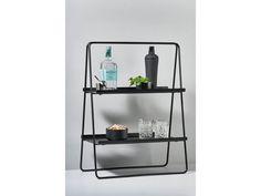 Zone Denmark A-Table Hylly Musta – Havea Design Shop Black Shelves, Ladder Bookcase, A Table, Coffee Cups, Denmark, Storage, Bedside Tables, Design Shop, Gin