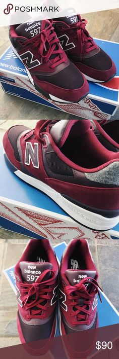 New Balance 597 ✨✨****New Balance 597 fit a 1/2 size small, these are labeled as 10.5 but they are truly a size 10*****✨✨  I bought these for myself, I wear a 10.5. I should have listened to the reviews. They do run 1/2 size small. Wish I could find em in my size...  1st day shipping  Price is firm New Balance Shoes Sneakers
