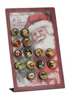 Bottlecap Christmas Countdown Calendar.