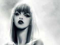 paintings with eyelashes images | Spray, Monochrome, Sadness, Eyelashes Digital-art desktop wallpapers ...