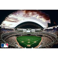 Mlb stadium wall mural potterybarnteen for Baseball stadium wall mural