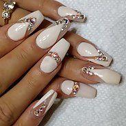 Fashion Nails with rhinestones