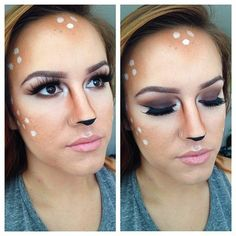 Doe, a deer, a female deer . . . if makeup is your forte, try a look that relies on your skills with the brush. You can use products already in your beauty arsenal to get this look! If you want a spookier look, check out these 35 other Halloween costume ideas for makeup lovers! Source: Instagram user facesbyray