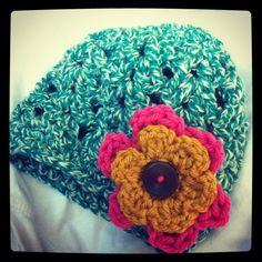 baby hat, shell stitch