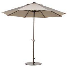 Abba Patio 9 Ft Outdoor Table Aluminum Patio Umbrella with Auto Tilt and Crank Alu. 8 Ribs Beige