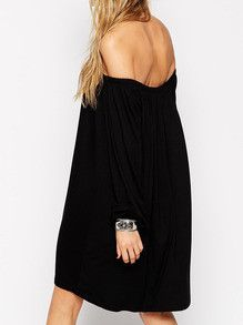Black Dress Long Sleeve Off The Shoulder Dress. Party Dress Going out dress. Perfect for any occasion. Season :Spring Pattern Type :Plain Sleeve Length :Long Sleeve Color :Black Dresses Length :Short