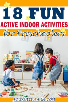 It can be tough to keep preschoolers entertained while you're stuck at home. That's why I had to put together all of these active indoor activities for preschoolers. This is a list of super fun activities to do with your toddlers that are educational and can help get that built up energy out! | Journey to SAHM @journeytosahm #athomeactivities #havingfuninside #thingstodoathome #thingstododuringcovid #covidactivitiesforkidsathome #familybonding #parenting #momlife #journeytosahm Indoor Activities For Kids, Toddler Preschool, Toddler Activities, Preschool Activities, Toddler Play, Summer Activities, Science Experiments Kids, Science For Kids, Science Crafts